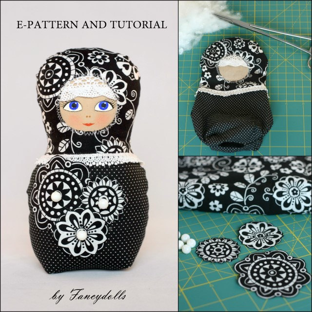 Sewing Pattern & Tutorial Russian Doll PDF DIY