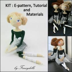 Doll Making Sewing Kit PATTERN TUTORIAL MATERIALS Little Ballerina