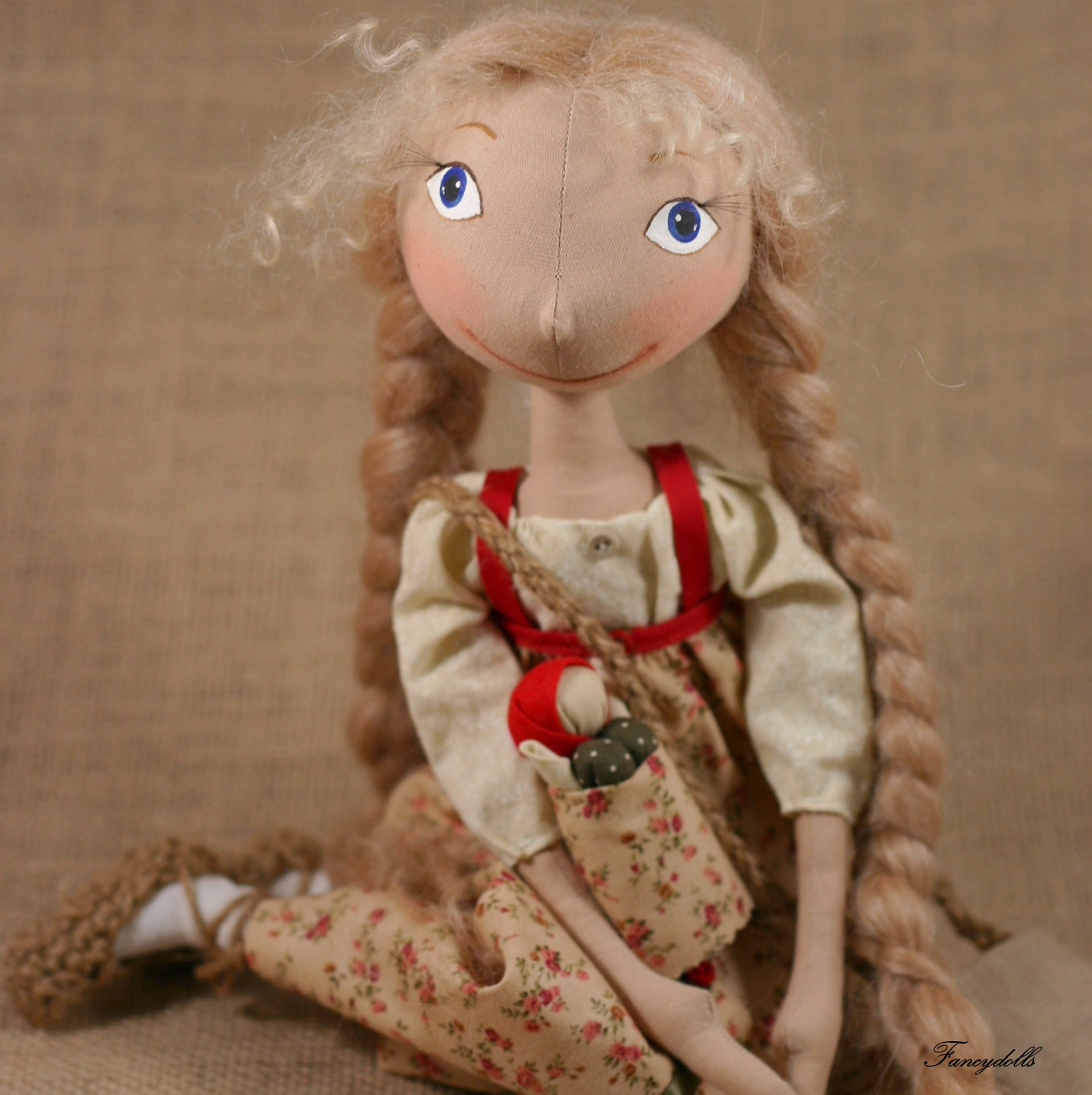 Cloth doll vasilisa from russian fairy tail story made to order on